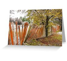 Crooked Fence Line - Hill End Greeting Card
