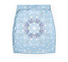 Pretty Blue Gerberas Mini Skirt