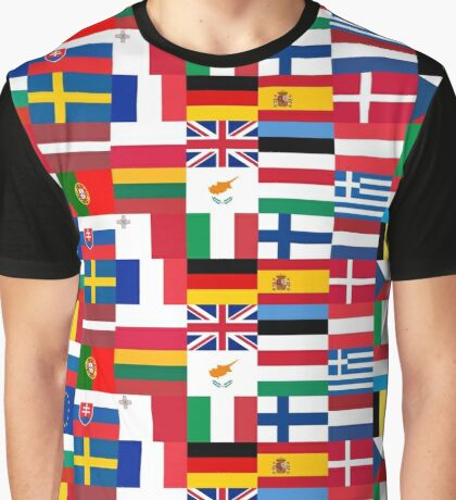 FLAG ME-EUROPEAN UNION Graphic T-Shirt