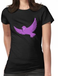 When Doves Shed Purple Tears or Cry Rain Womens Fitted T-Shirt