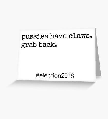 Pussies Grab Back Greeting Card