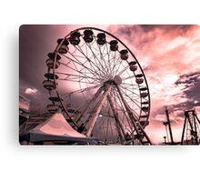 CNE Ferris Wheel At Sunset [IR+UV] Canvas Print