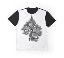 Zen Doodle Spades Black Ink Graphic T-Shirt