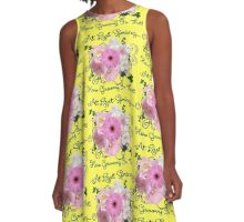 At Last Spring How Groovy Is That! A-Line Dress
