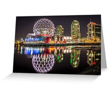 Vancouver Science World in False Creek Greeting Card