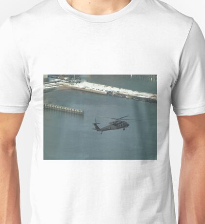 Aerial View, Snow View, Helicopter, Hudson River Unisex T-Shirt