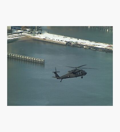 Aerial View, Snow View, Helicopter, Hudson River Photographic Print