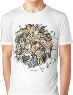 Abstract Collie Graphic T-Shirt