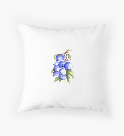 Blueberry Bound Throw Pillow