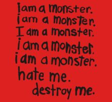 I am a monster by cosmiczombie
