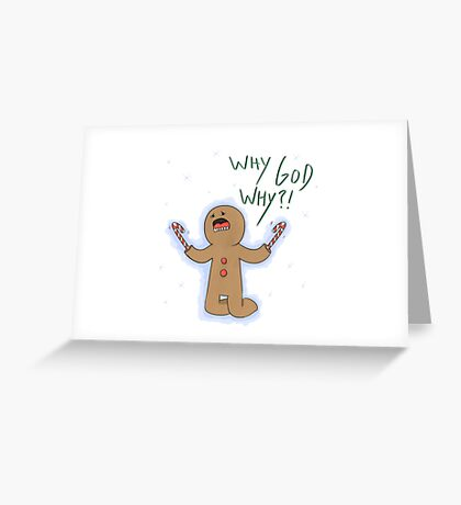Candy Cane Hands Man Greeting Card