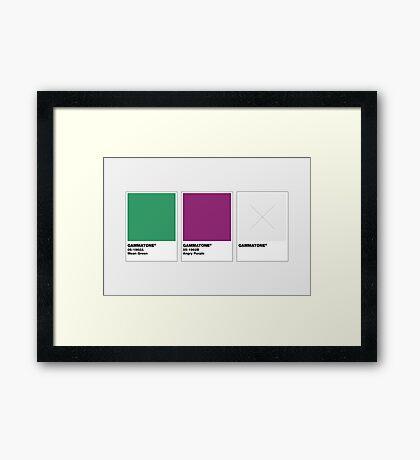 The Colorists - GAMMATONE Framed Print