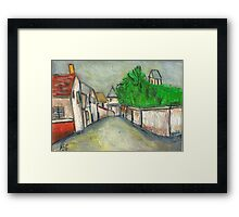 Street Scene (After Utrillo) Framed Print