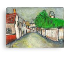 Street Scene (After Utrillo) Canvas Print
