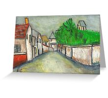 Street Scene (After Utrillo) Greeting Card