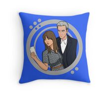 The Doctor and Clara - Selfie Throw Pillow