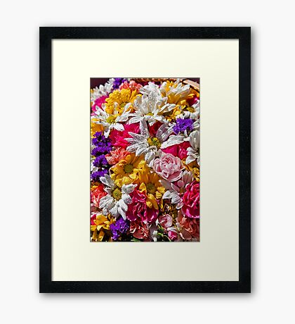 Be like the flower, turn your face to the sun. Framed Print