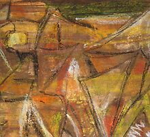 Windy Autumn - Section of Art Pastel Abstract 2 by Heatherian