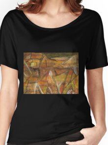 Windy Autumn - Section of Art Pastel Abstract 2 Women's Relaxed Fit T-Shirt