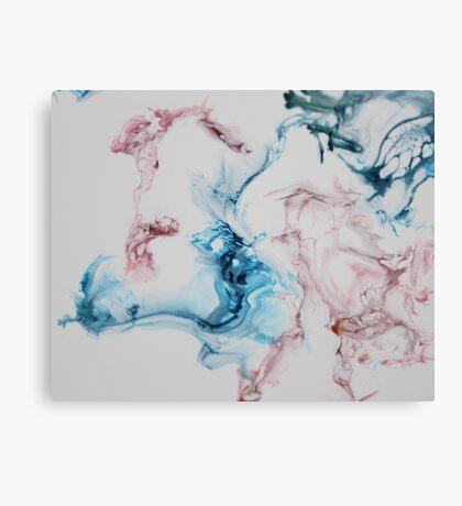 simple elegance ink pink blue Canvas Print