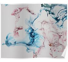 simple elegance ink pink blue Poster