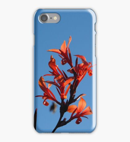Red Flowers on a Blue Sky iPhone Case/Skin