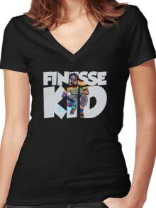 Young Kodak the Finesse Kid- Kodak Black Women's Fitted V-Neck T-Shirt