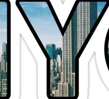 NYC Picture Letters Sticker