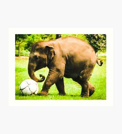 Elephant Athlete Art Print