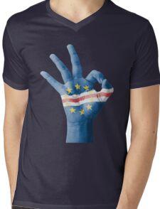 Cape Verde flag Mens V-Neck T-Shirt