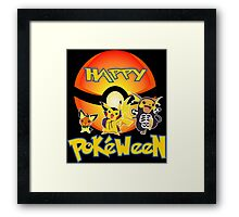HAPPY POKEWEEN Framed Print