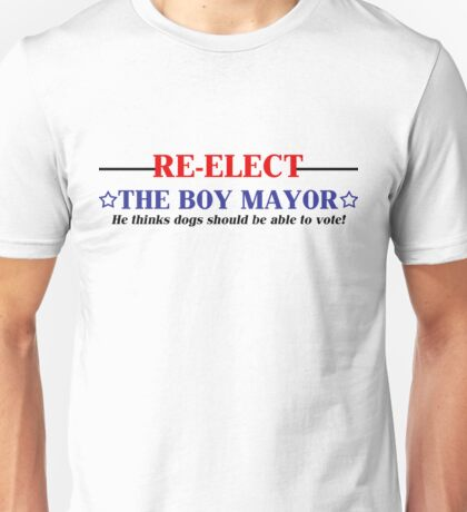 Re-elect the Boy Mayor of Second Life! Unisex T-Shirt