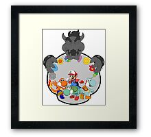SUPER POKEMON BROS Framed Print