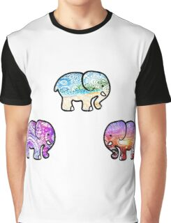 Backgrounds Cute Elephant Pack Graphic T-Shirt