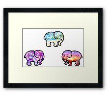 Backgrounds Cute Elephant Pack Framed Print