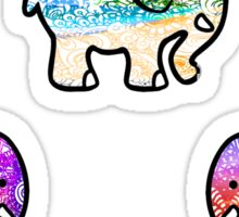 Backgrounds Cute Elephant Pack Sticker