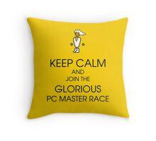 PC gaming master race Throw Pillow