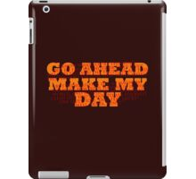 Dirty Harry Sudden Impact - Go Ahead Make My Day iPad Case/Skin