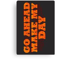 Dirty Harry Sudden Impact - Go Ahead Make My Day Canvas Print