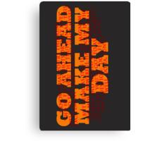 Dirty Harry Sudden Impact - Go Ahead Make My Day Canvas Print