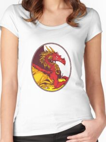 Ancient Red Dragon Women's Fitted Scoop T-Shirt
