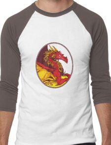 Ancient Red Dragon Men's Baseball ¾ T-Shirt
