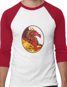 Ancient Red Dragon Men's Baseball ¾ T-Shirt