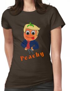 Red tongued Peachy Womens Fitted T-Shirt
