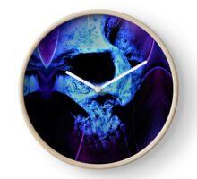 Artistic skulls Clock