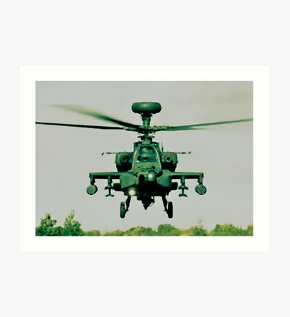 Army Green Apache Art Print