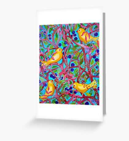 Birds and Berries Greeting Card
