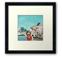 Luffy - Going Merry Framed Print