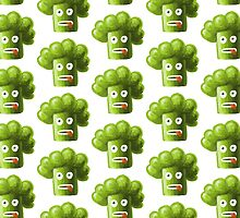 Funny Broccoli Pattern by Boriana Giormova