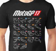 MotoGp 2017 calendar all circuits Unisex T-Shirt